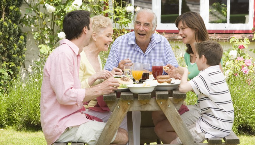 A garden table can help you bring your family together.