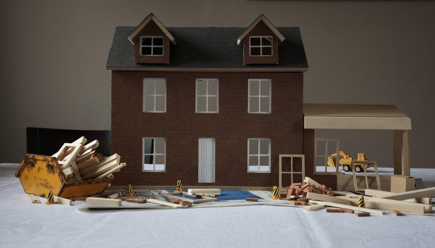 Haz los muebles para tu casa de muñecas.