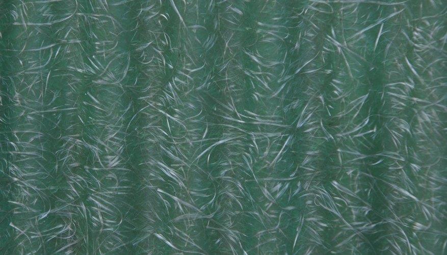 La fibra de vidrio se desmorona una vez que la resina se disuelve.
