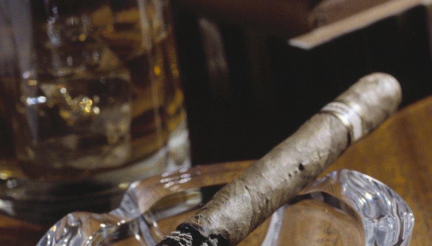 cigar in ashtray