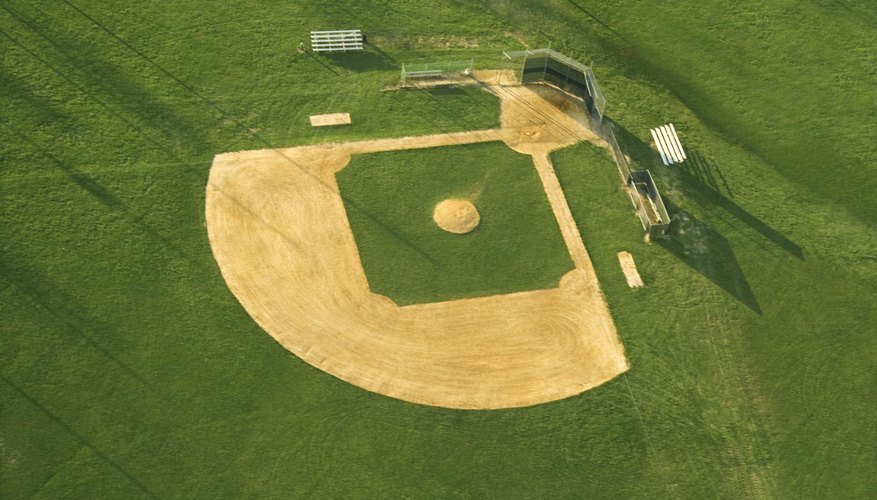 Use the image of a baseball field to understand the perimeter of a quadrant.