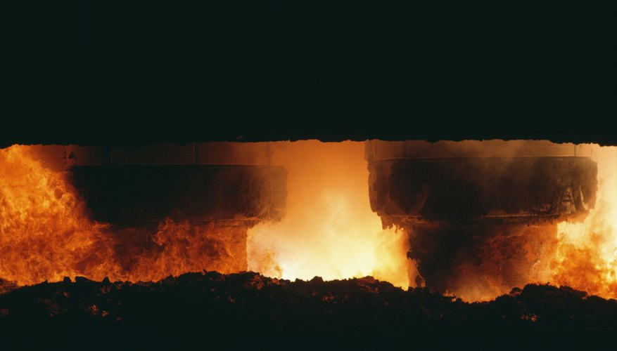 Furnaces help in the smelting process to extract metals.