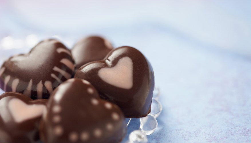 Chocolate hearts will please your sweetheart's sweet tooth.