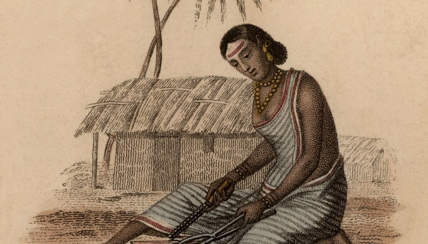 Haz una choza india usando materiales de artesanía básicos.
