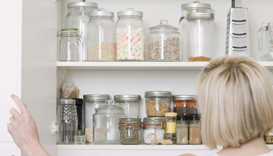 Place food items in sealed containers to keep pantry pests out.