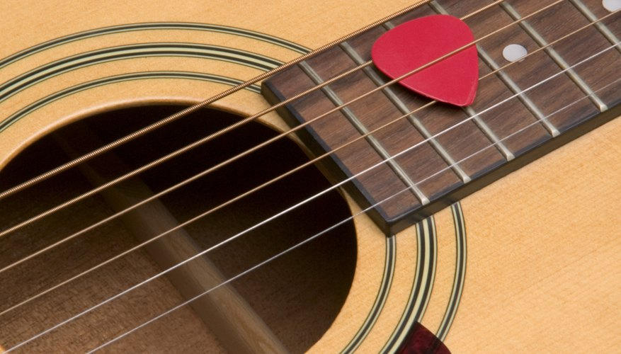 Use an acoustic guitar's soundhole to tell what kind it is.