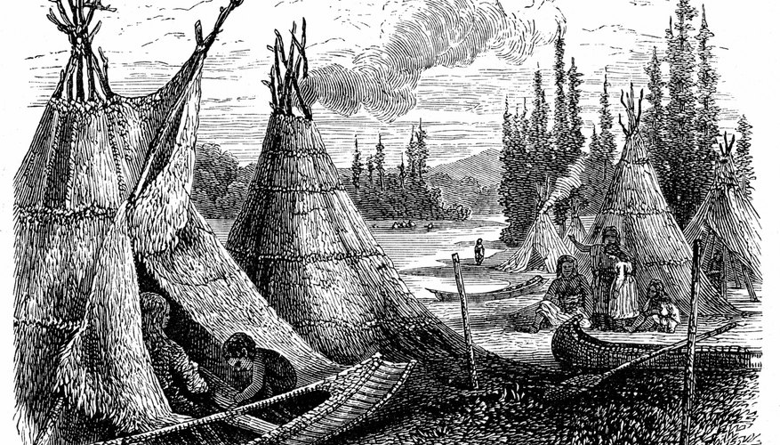 Tepees were a type of housing for the American Indian.