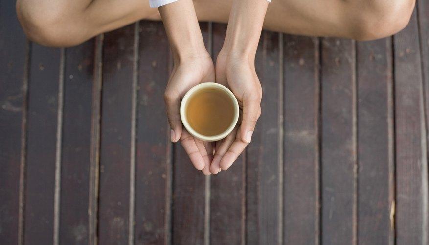 Tea and meditation can help alleviate stress.