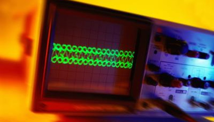 An oscilloscope can be used to measure the time constant of a circuit.