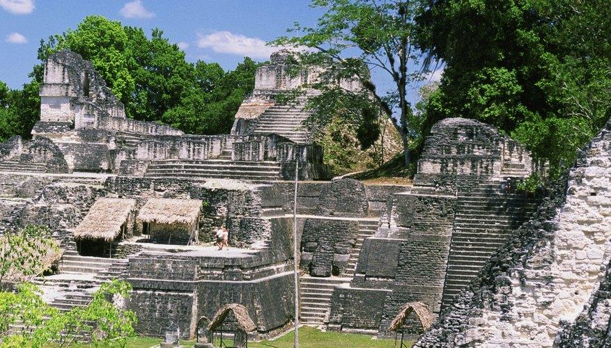 Mayan ruins are a popular tourist destination in Guatemala.
