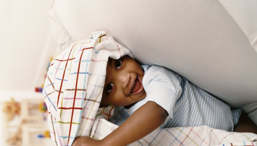 Toddlers love to hide (and seek).