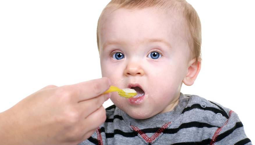 Solid food can be introduced at 4 months.