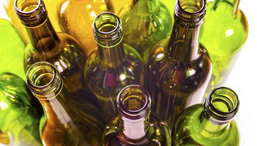 Recycling - Empty Glass Wine Bottles