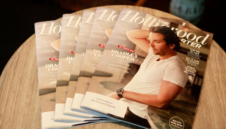 Copies of the Hollywood Reporter magazine