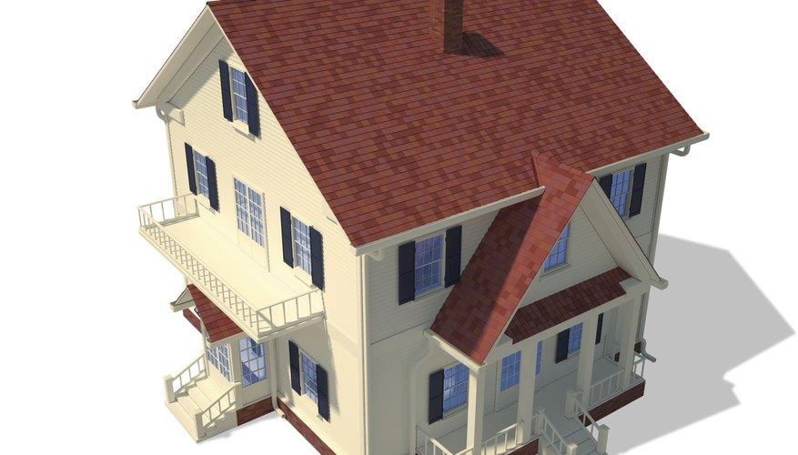 3D model of a home.