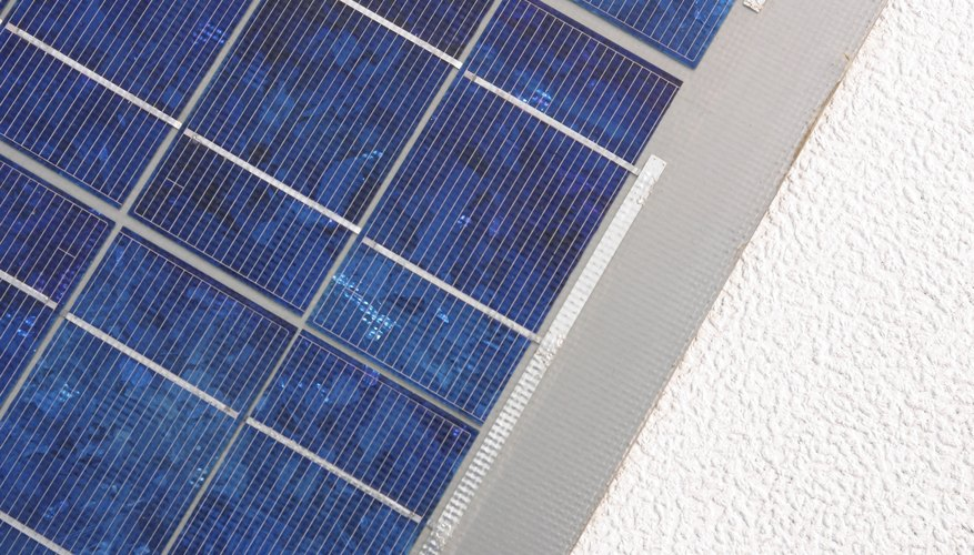 A solar panel's output declines slowly with time.