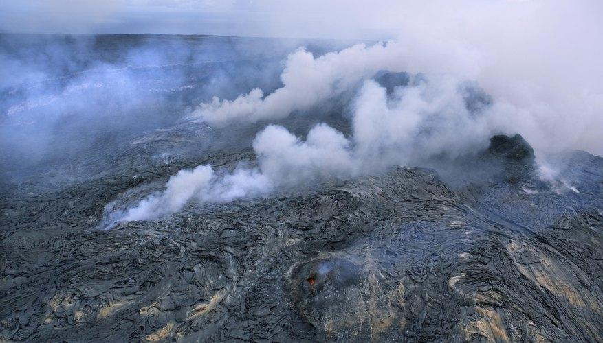 Este paisaje es resultado de las erupciones de un volcán.