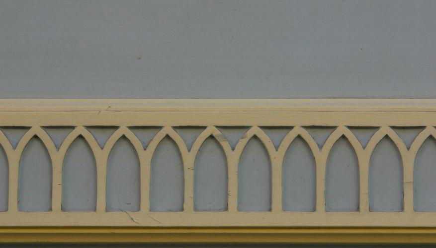 Decorative wall molding.