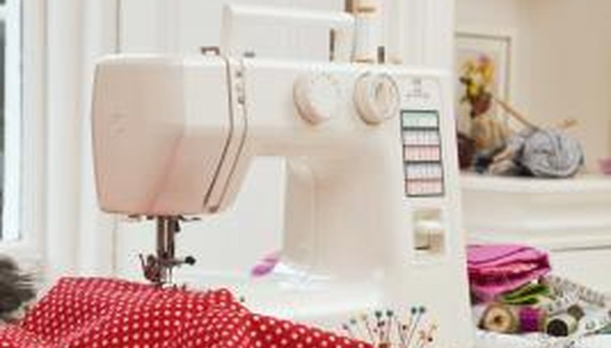 A multi-function sewing machine needs maintenance.
