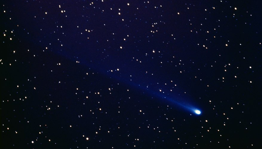 Comets glow in reaction to the Sun's heat, radiation and other properties.