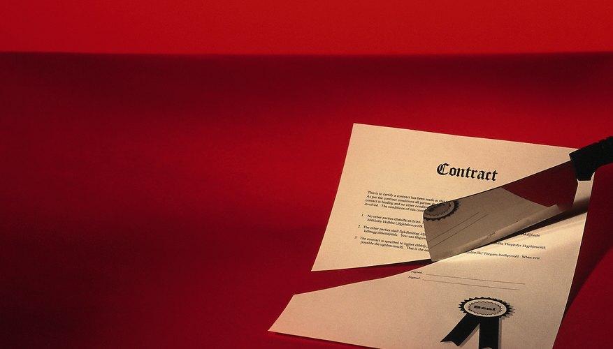 Existen diferentes contratos que pueden declararse nulos.