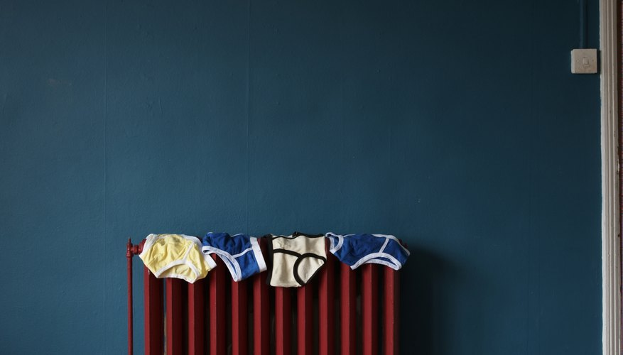 under pants on radiator