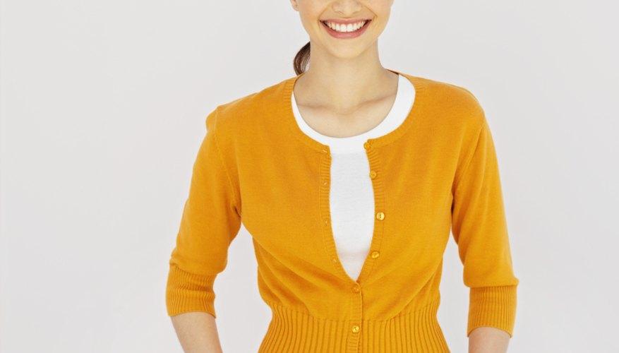 Algunas personas prefieren suéters con mangas más cortas.