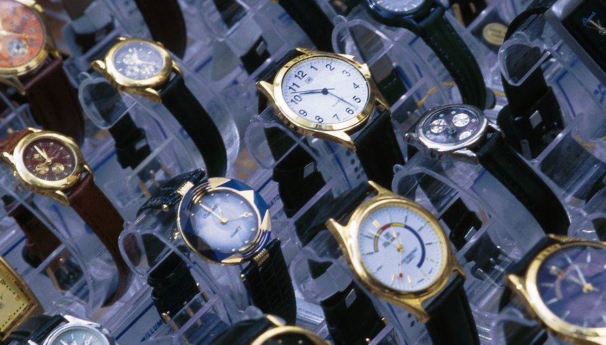 Variety of wristwatches on display