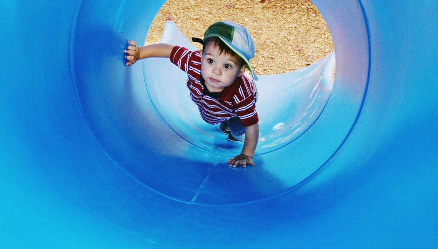 Parents and toddlers can find many exciting things to do, including tunnel fun.
