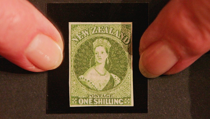 A 1855 New Zealand One Penny Stamp