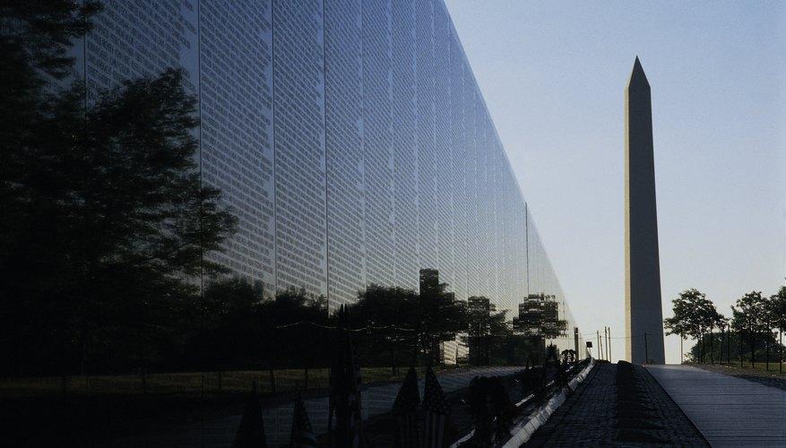 El homenaje a los veteranos de Vietnam es el monumento más visitado en los E.U.
