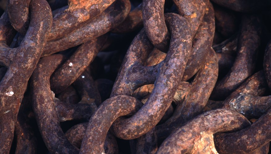 Rusty iron chains