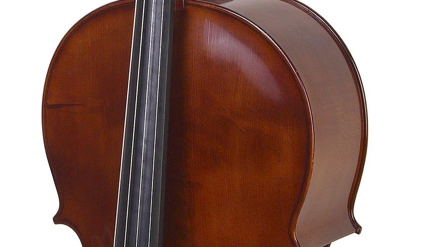 Un  violonchelo es un instrumento de cuerdas que se toca con un arco.