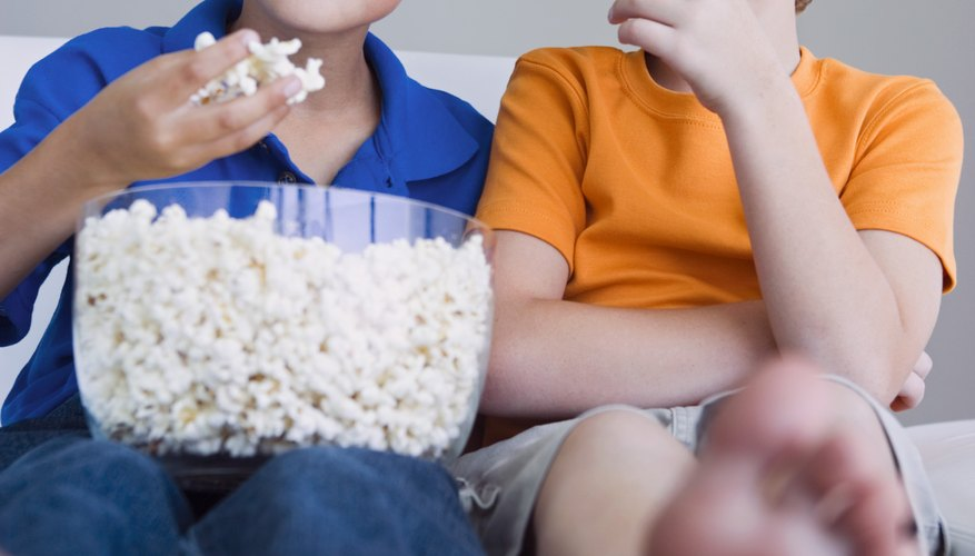 Older children should have no problems eating popcorn.