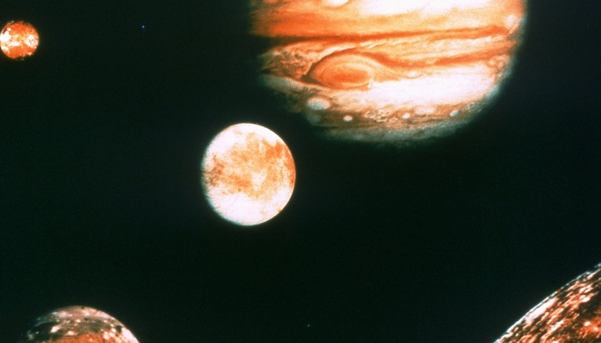 "With his upgraded telescope, Galileo first observed Jupiter's ""Galilean"" moons in 1610."