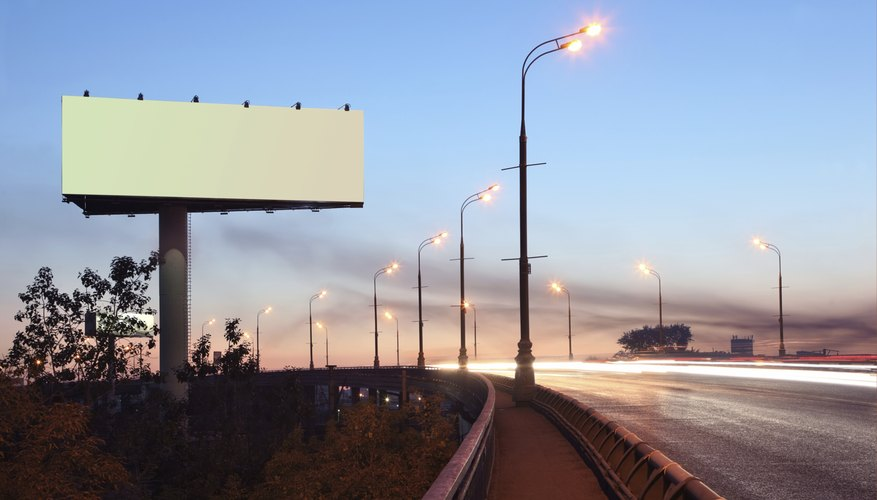 Blank billboard along highway