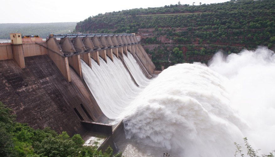 A dam may provide hydropower.