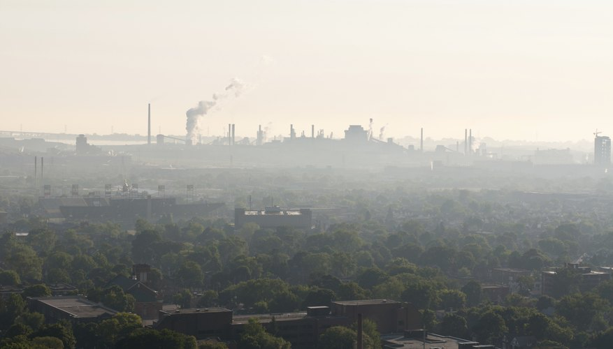 Fossil fuel emissions pollute the air, land and water