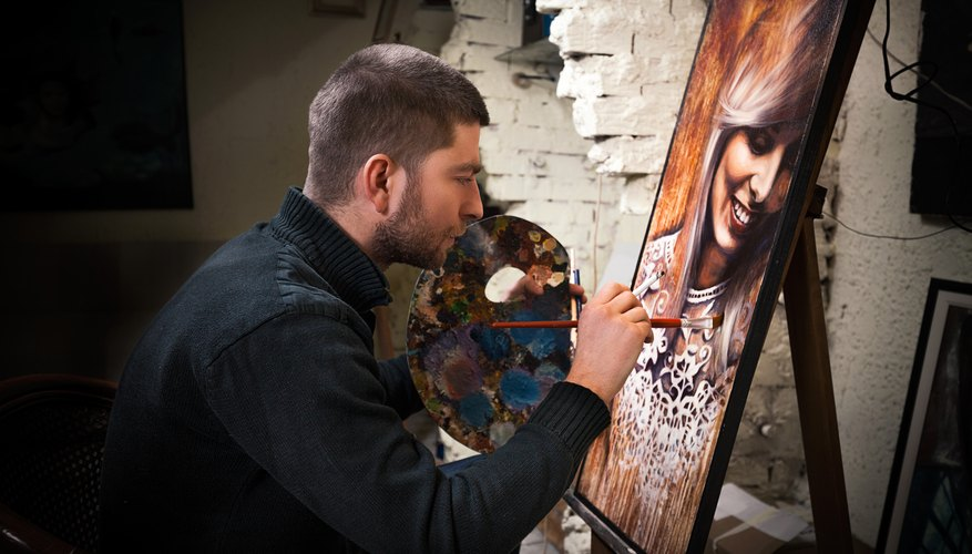 Painter at Studio