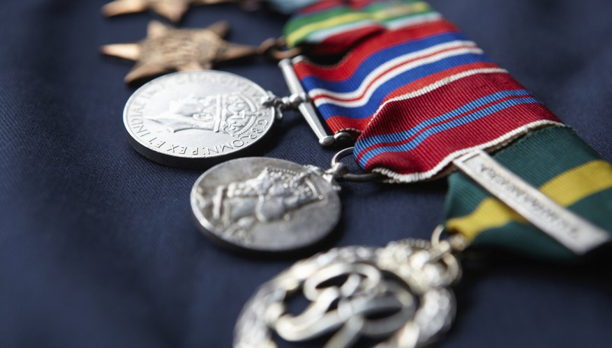 Strip of military medals.