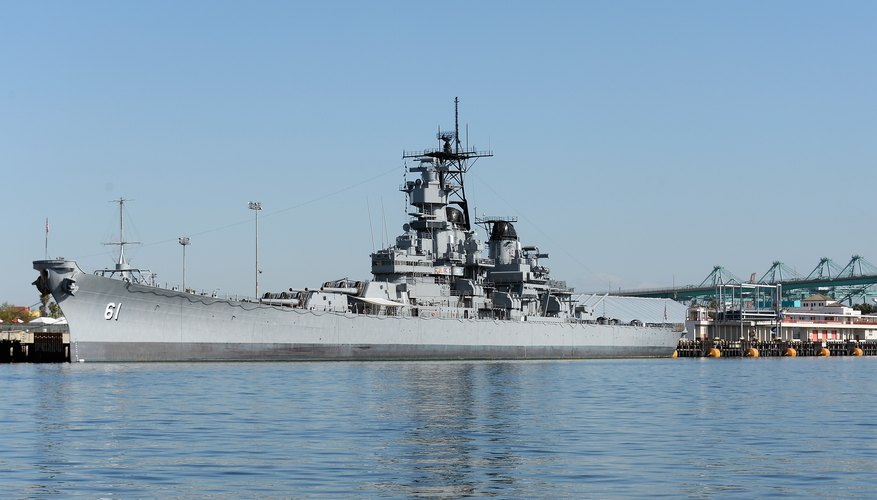 Retired U.S. Navy battleship U.S.S. Iowa