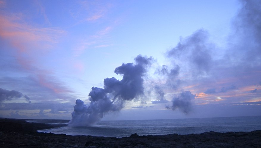 The islands of Hawaii are composed of shield volcanoes.