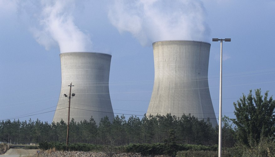 Nuclear power plants generate electricity without producing carbon dioxide.