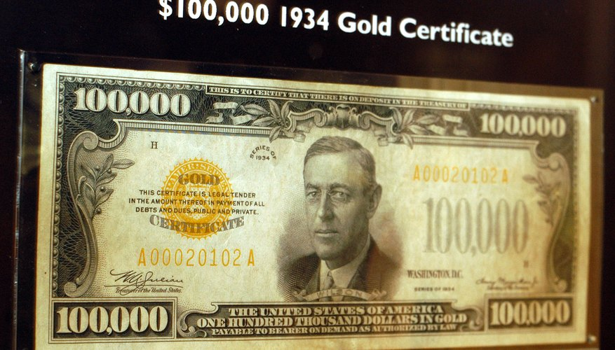 Gold certificates are often worth more than face value to collectors.