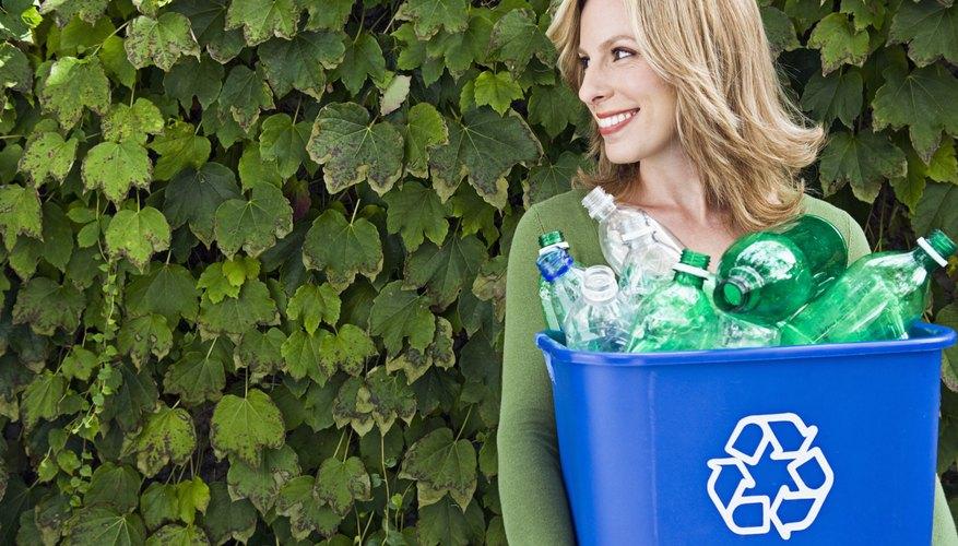Recycling plastic bottles reduces their carbon footprint.