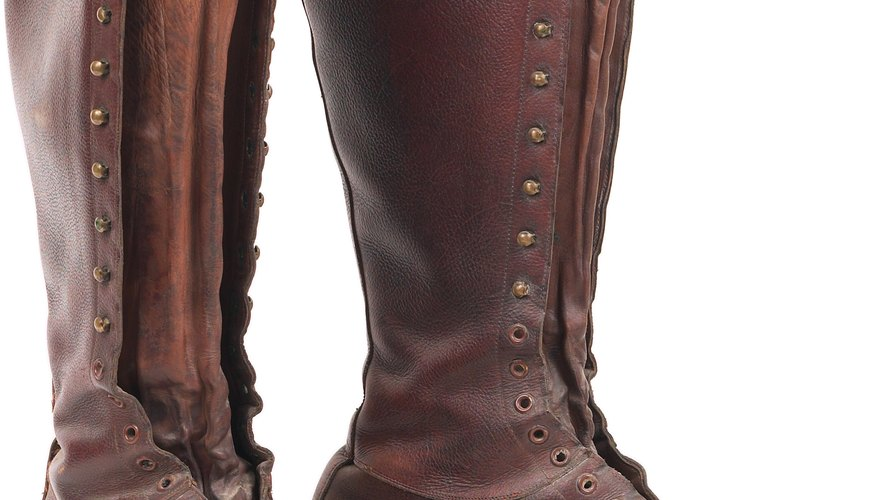 Grommets in boots allow laces to glide smoothly when tying them.