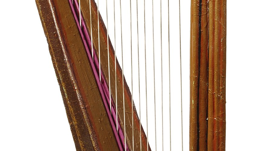 The principle behind a harp is quite simple.