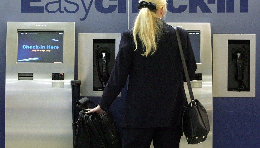 Terminal  EasyCheck-in de United.