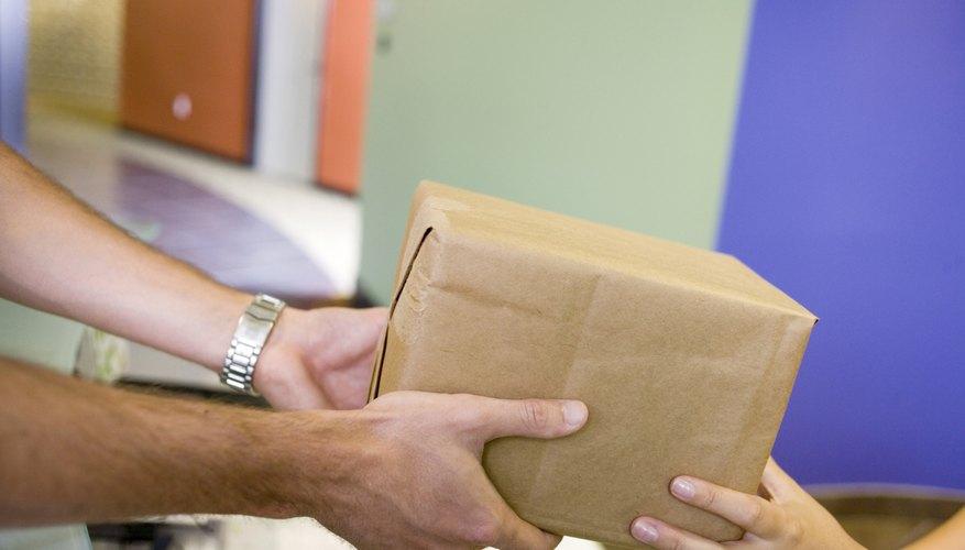 Delivery man delivering a parcel