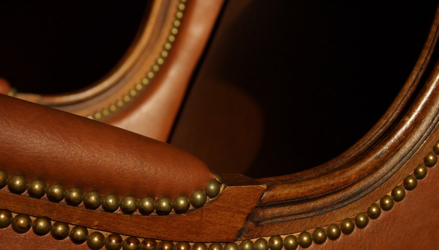 Make a simple chair stand out by using two different leather colors.